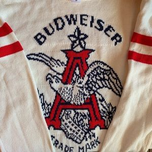 Junk Food Budweiser Acrylic Sweater